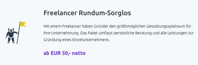 Gründungspaket Für Freiberufler Ab 50 Euro Netto