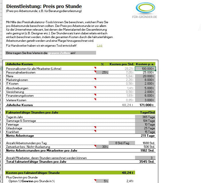 preiskalkulation so berechnen sie ihren verkaufspreis excel. Black Bedroom Furniture Sets. Home Design Ideas